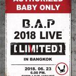 6 หนุ่ม B.A.P ส่งคลิปอ้อนเบบี้ไทย 23 มิ.ย. เจอกันที่ 'B.A.P 2018 LIVE [LIMITED] IN BANGKOK' แน่นอน พร้อมเปิดจองบัตร 12 พ.ค. นี้!!