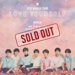 ทุบสถิติขายบัตรคอนเสิร์ตเกาหลีในไทยมากที่สุด  BTS WORLD TOUR 'LOVE YOURSELF' BANGKOK  สนามราชมังฯ 2 รอบกลี้ยง!!!