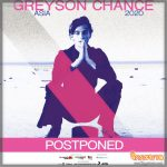 เลื่อน งาน Greyson Chance Asia 2020 in Bangkok